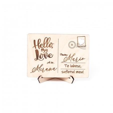 Carte Postala Lovers Personalizabila din Lemn [0]