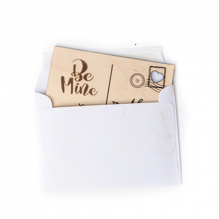 Carte Postala Lovers Personalizabila din Lemn [1]