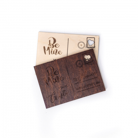 Carte Postala Lovers Personalizabila din Lemn [4]