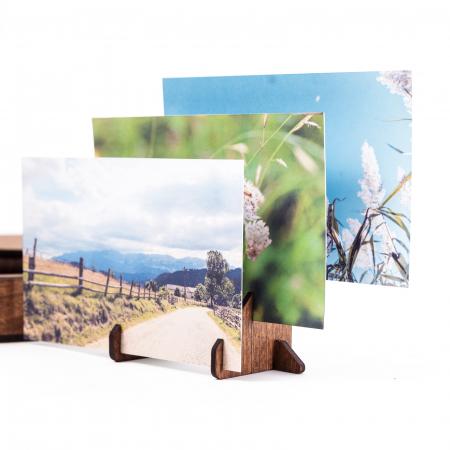 Cutie Cadou cu Suport din Lemn pentru Fotografii 10x15cm Personalizabila [6]