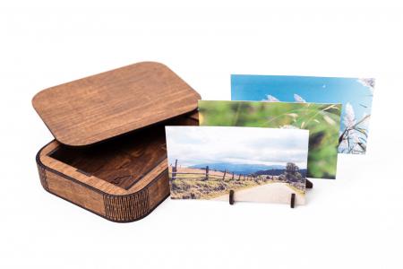 Cutie Cadou cu Suport din Lemn pentru Fotografii 10x15cm Personalizabila [0]