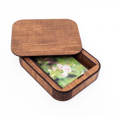 Cutie Cadou cu Suport din Lemn pentru Fotografii 10x15cm Personalizabila [1]