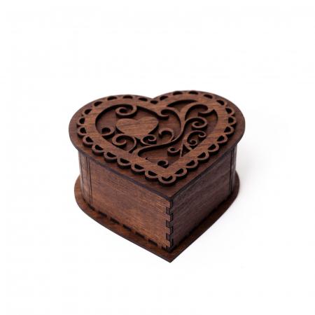 Cutie Inima din Lemn Personalizabila [0]