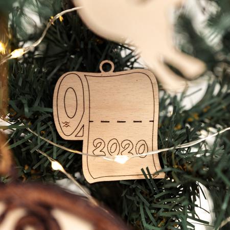 Decoratiune de Brad 2020 Sul din Lemn [1]