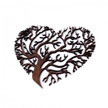 Decoratiune Heart Tree din Lemn [0]