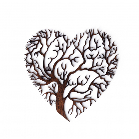 Decoratiune Heart Tree din Lemn [1]