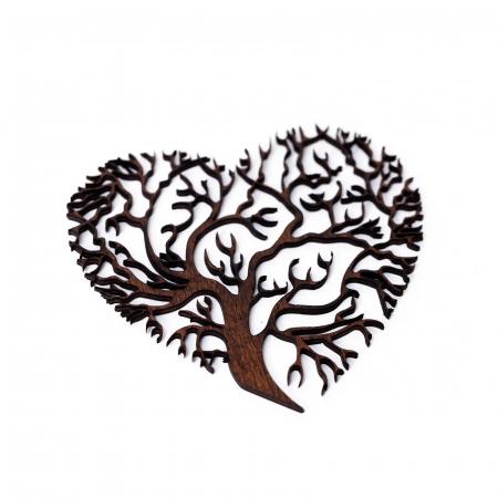 Decoratiune Heart Tree din Lemn [2]