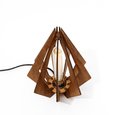 Lampa_Lemn_Diamant_lustra_decorativa_artizanala_ cu bec LED [0]