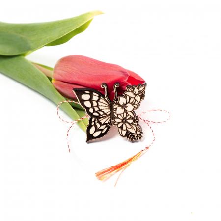 Martisor Fluture-Floare din Lemn [0]