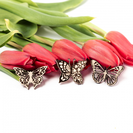 Set 3 Martisoare din Lemn Fluture [0]