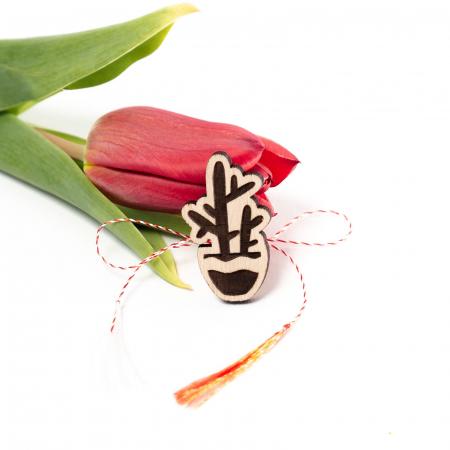 Set 6 Martisoare din Lemn Plant Lover [2]