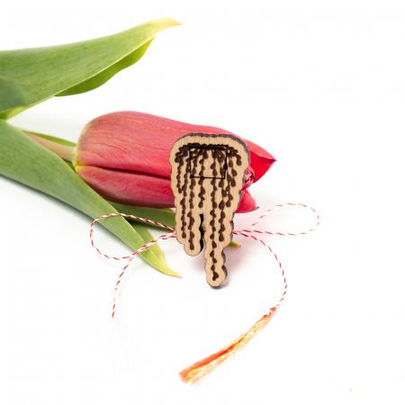 Set 6 Martisoare din Lemn Plant Lover [1]