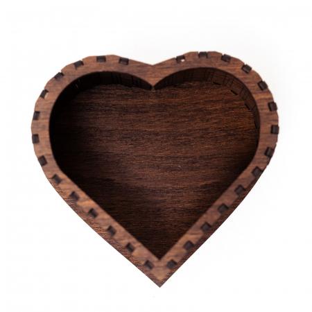 Set cutie inima cu cercei heart fall si suport floral pahare de vin [6]