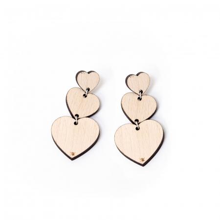 Set cutie inima cu cercei heart fall si suport floral pahare de vin [2]