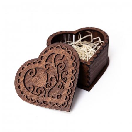 Set cutie inima cu cercei heart fall si suport floral pahare de vin [5]