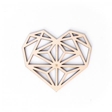 Suport de Pahar Inima Geometrica din Lemn [3]