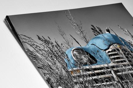 Tablou Canvas - Old car Blue [3]