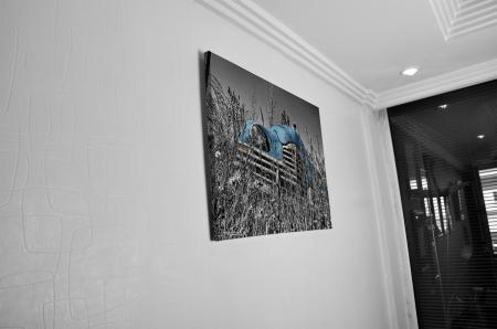 Tablou Canvas - Old car Blue [4]