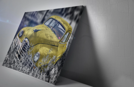 Tablou Canvas - Old car Yellow [3]