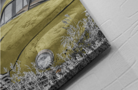 Tablou Canvas - Old car Yellow [1]
