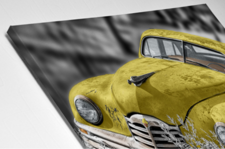 Tablou Canvas - Old car Yellow [2]