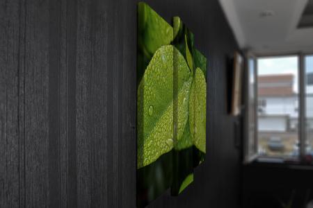 Tablou Multi-Canvas Green Leaves [3]