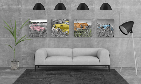 Tablou Multi-Canvas Old Cars Gallery [3]