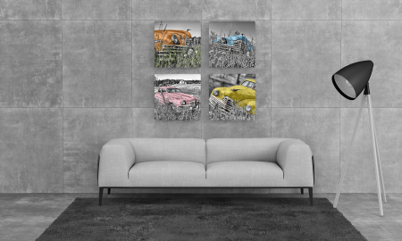 Tablou Multi-Canvas Old Cars Gallery [2]