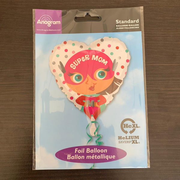 Balon folie Super Mom / Super Mama inima 43cm 0026635370660 1