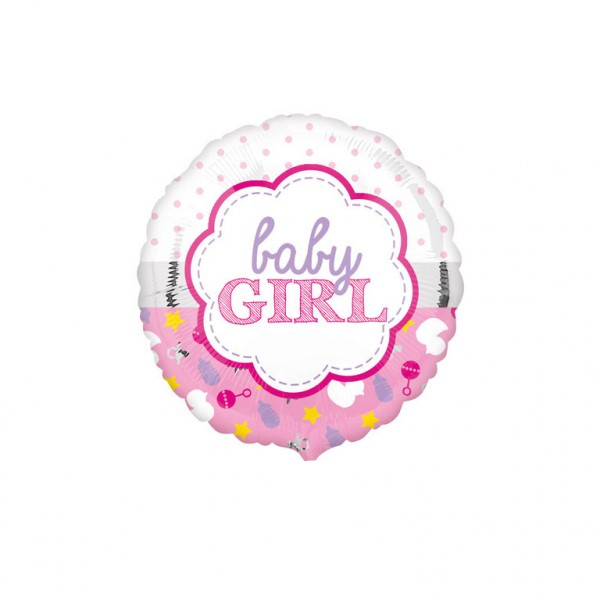 Balon folie Baby Girl roz 43cm 0026635336437 0