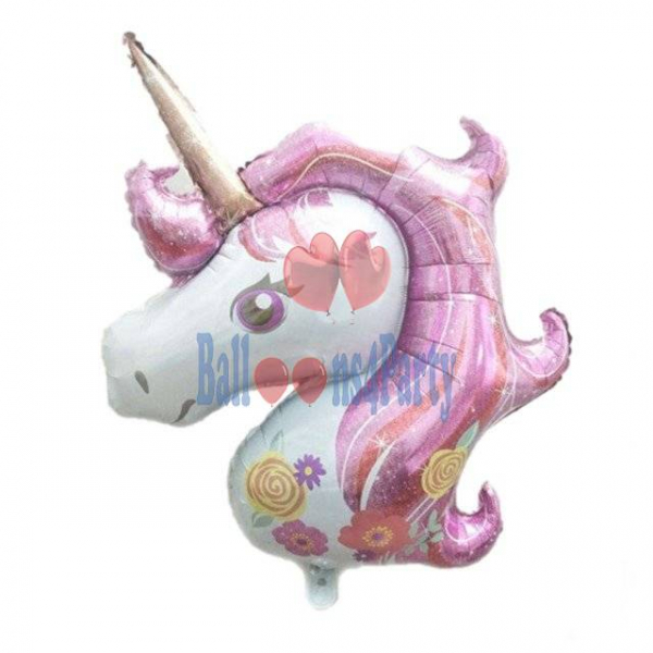 Balon folie Cap Unicorn roz 108 x 88 cm 0