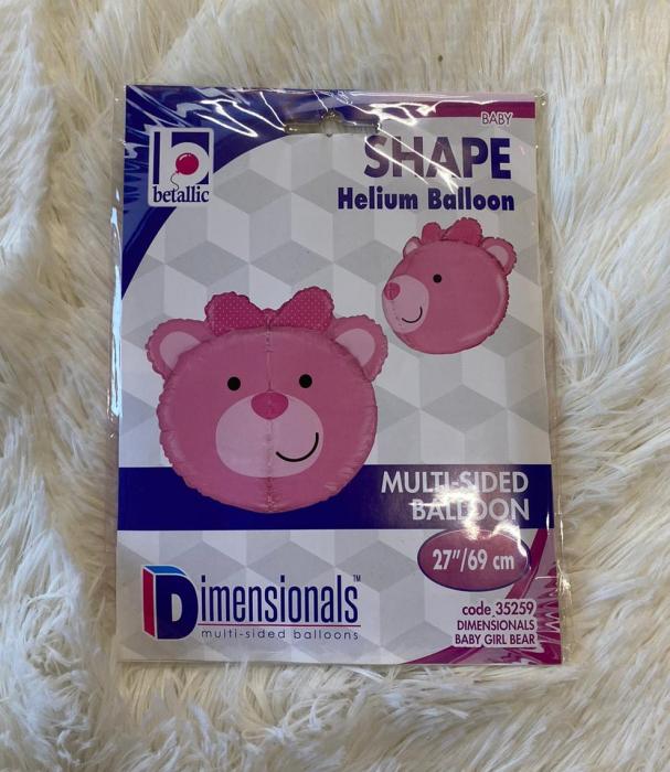 Balon folie cap urs roz 3D 69 cm [6]