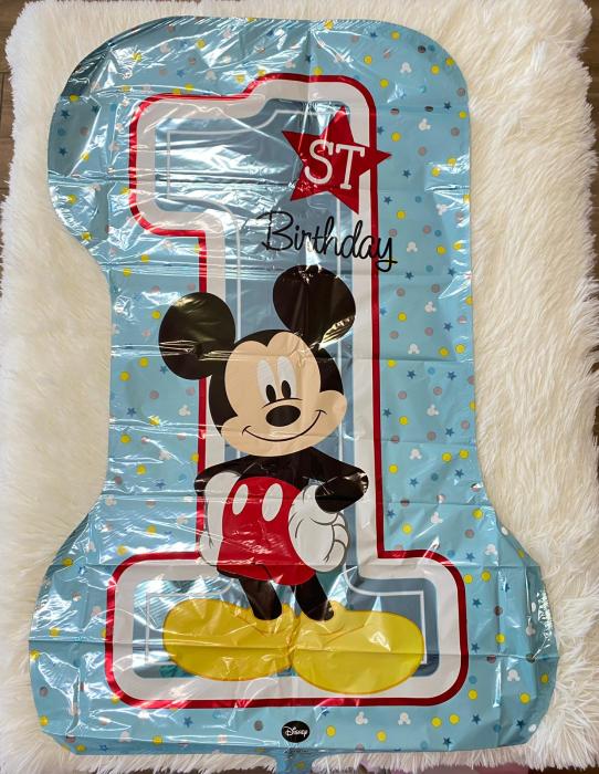 Balon folie cifra 1 Mickey Mouse 71 x 48 cm [1]