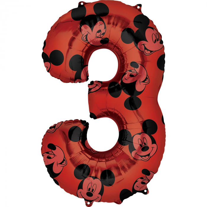 Balon folie cifra 3 Mickey Mouse Forever 66cm [0]