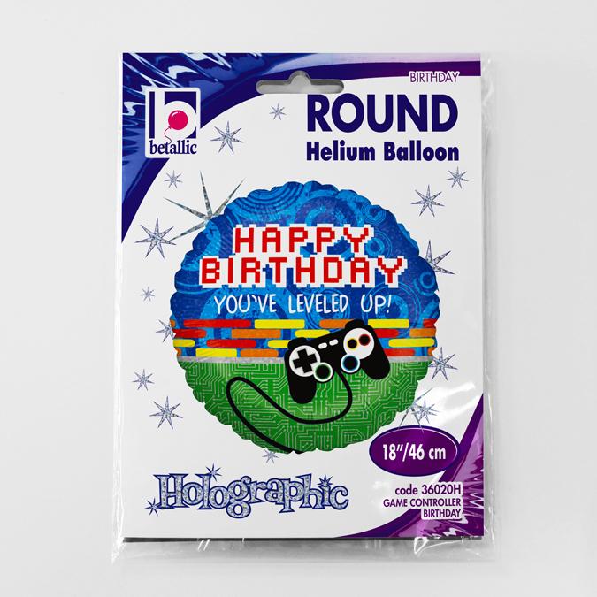 Balon folie Consola jocuri Happy Birrthday 46 cm [1]