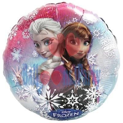 Balon folie Frozen Ana si Elsa 43cm 0