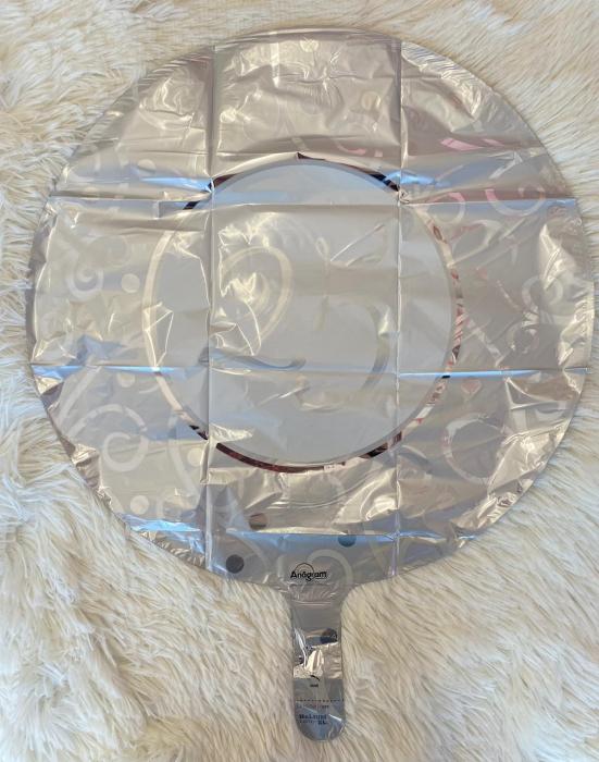 Balon folie imprimat 25 ani argintiu 45cm [1]