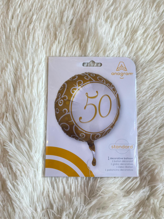 Balon folie imprimat 50 ani auriu 45cm 2