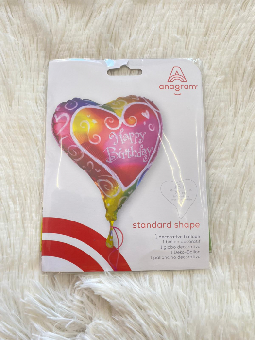 Balon folie Inima Multicolor Happy Birthday 38 cm 0026635076357 [3]