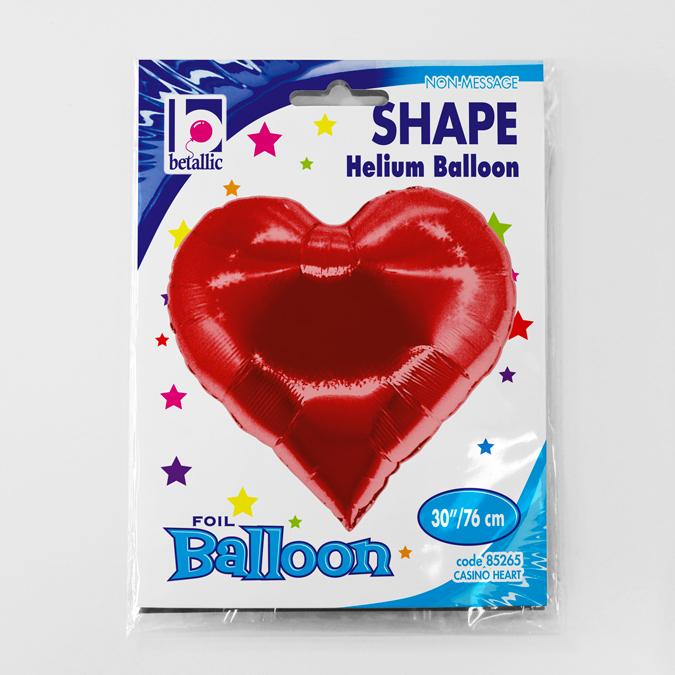 Balon folie Inima Poker 76 cm [2]