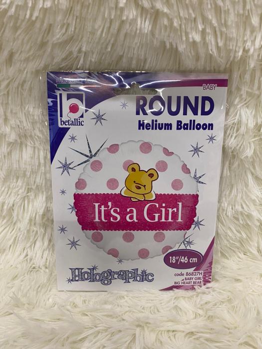 Balon folie It's a girl ursulet 46 cm 2