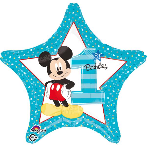 Balon folie Mickey 1st Birthday 43cm 0026635343350 0