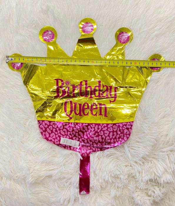 Balon folie mini figurina coroana regina / Little Queen 32 * 38 cm 1
