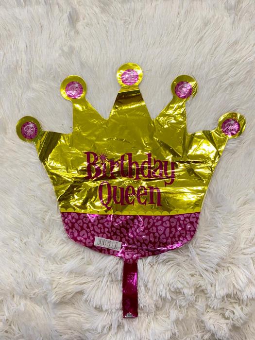 Balon folie mini figurina coroana regina / Little Queen 32 * 38 cm 3