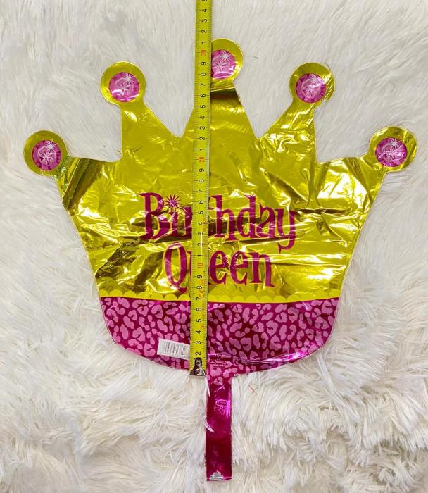 Balon folie mini figurina coroana regina / Little Queen 32 * 38 cm 2