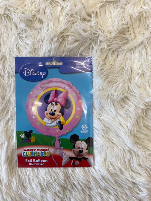 Balon folie Minnie Character Roz 43cm 2