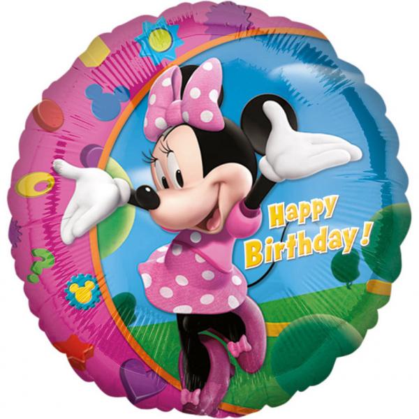 Balon folie Minnie Mouse Happy Birthday 43cm 0026635177979 0