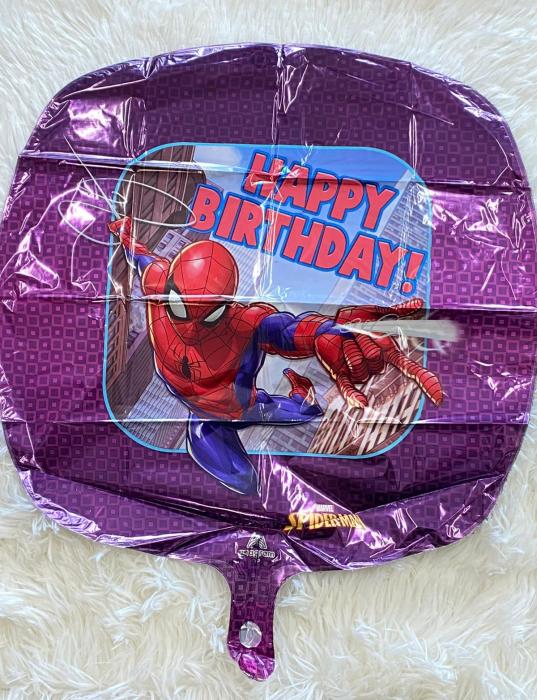 Balon folie patrat Spider-Man Happy Birthday 43 cm [1]