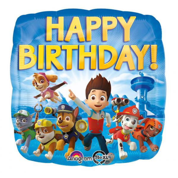 Balon folie Paw Patrol Happy Birthday 45 cm 0026635301800 0