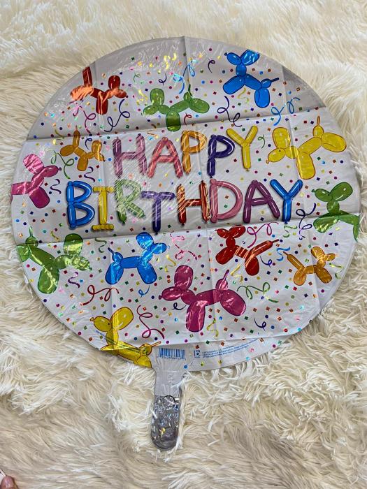 Balon folie rotund Happy Birthday catei baloane 46 cm [1]